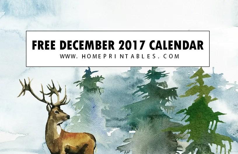 Christmas Themed 2020 December Printable Calendar Free Calendar December 2017: 8 Christmas Themed!   Home Printables