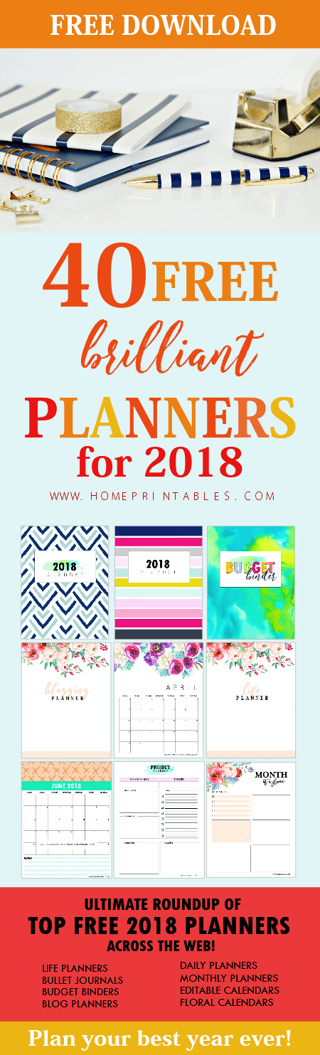 Organization Calendar Free : Free printable planner  brilliant planners and
