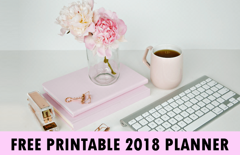 Free Monthly Planner 2018 with Calendars!