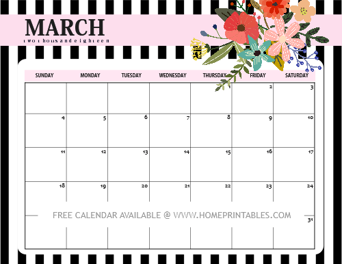 photograph about Printable March Calendar identified as March 2018 Calendar: 10 Absolutely free Printable Planners! - Residence