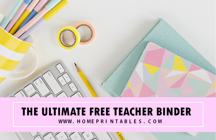 photograph relating to Free Printable Teacher Planner named Totally free Trainer Binder Printables: 30+ Cl Planners! - Dwelling