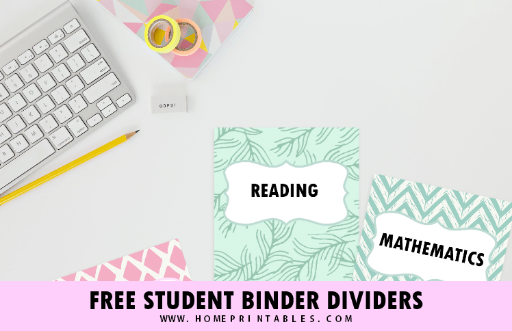 FREE Printable School Binder Divide for ALL Subjects!
