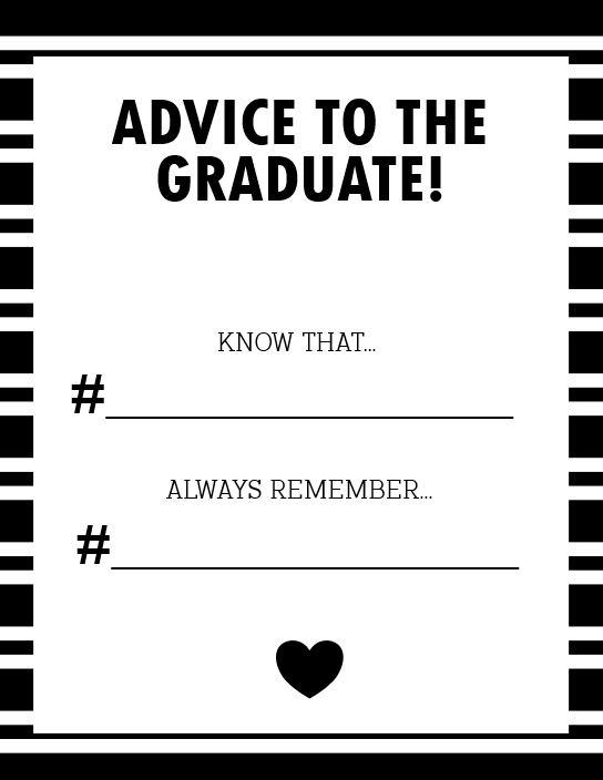 graphic about Advice for the Graduate Free Printable called Absolutely free Commencement Templates:12 Commencement Printables, Playing cards