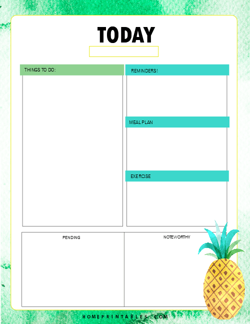 printable planner pages for students