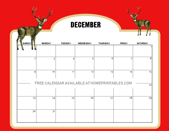 12 FREE December 2018 Calendars and Planners in Christmas ...