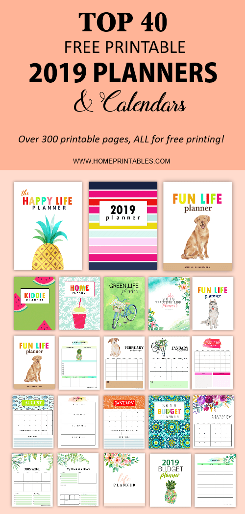 Free Printable Planner 2019 Top 40 Brilliant Planners And Calendars
