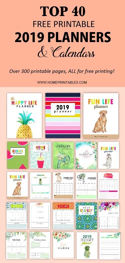 free 2019 printable planner