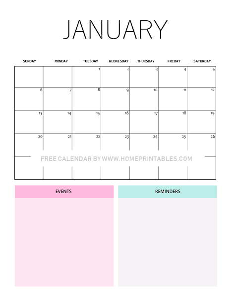 photograph relating to January Calender Printable titled January 2019 Calendar: 10 Adorable Absolutely free Printables for Your self!