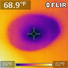 Infrared spots cooler areas