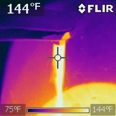 Scald warning hot water