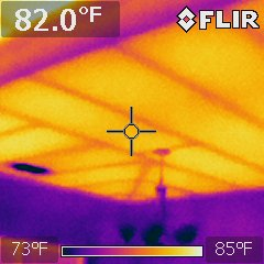 Infrared exposes missing insulation when home was inspected