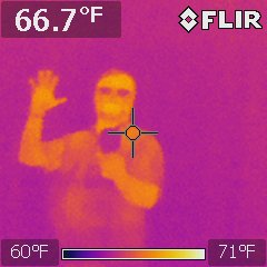 With Infrared you must be careful, the heat source you find could be your own reflection
