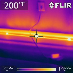 Baseboard heater is hot enough to melt electrical cord