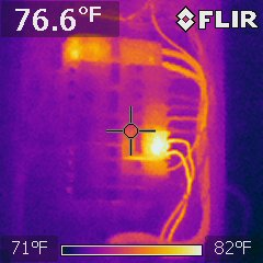 Electrical breaker panel, normal function, cooling system was operating as expected