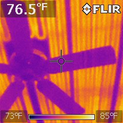 Ceil Heat from the 50s or 60s above a ceiling fan