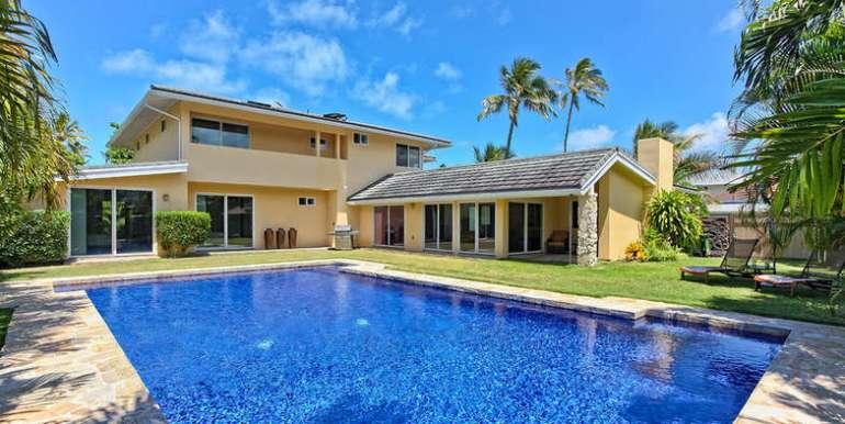 pool & house