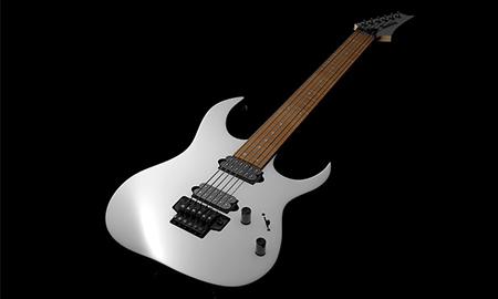 white-guitar