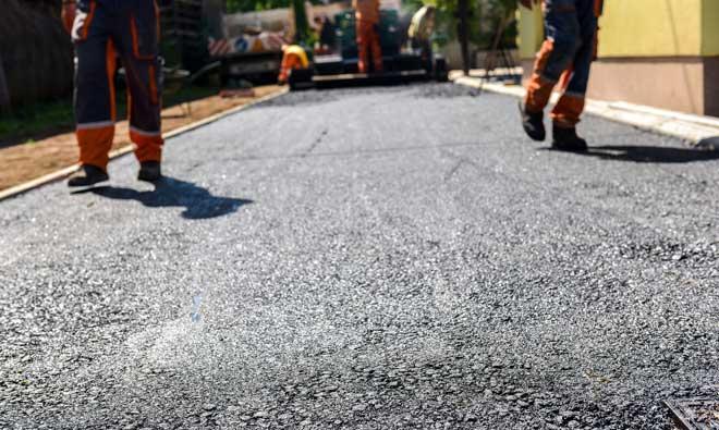 Asphalt Driveway under Construction