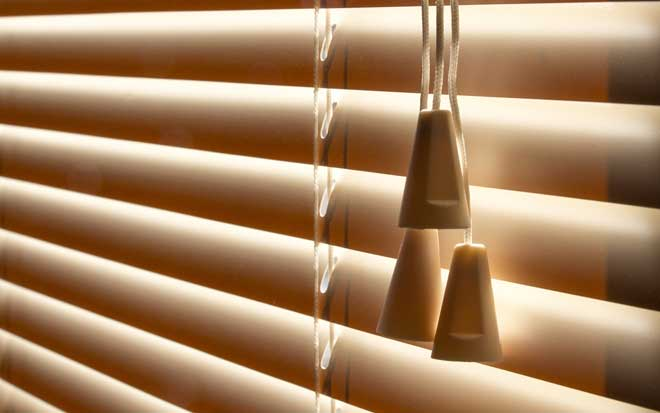 Typical Venetian Blinds Blocking Light From Entering