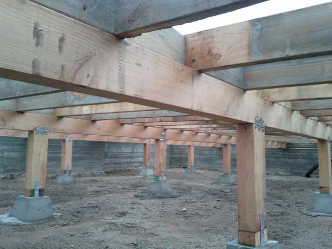Crawl Space in Unfinished House