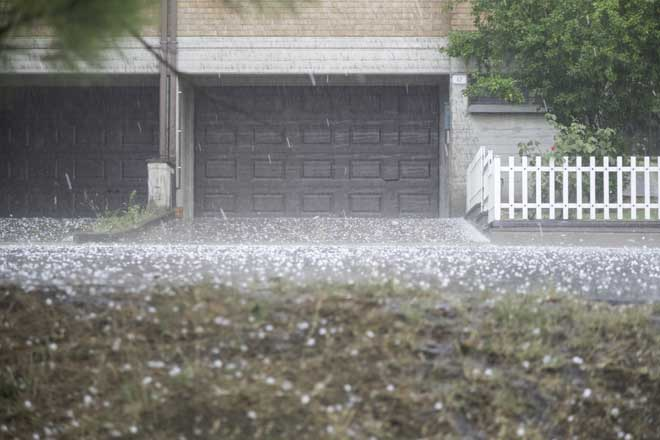House During a Hailstorm