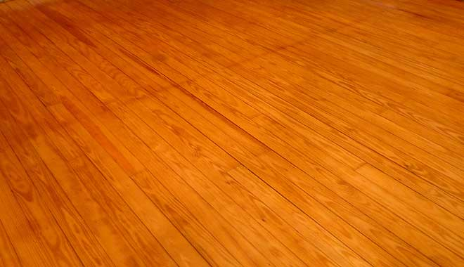 Old Pine Floor Refinished