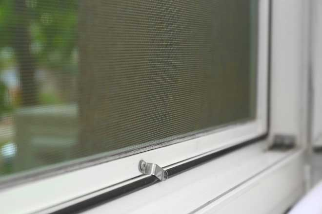 View of Window Screen Looking Outside