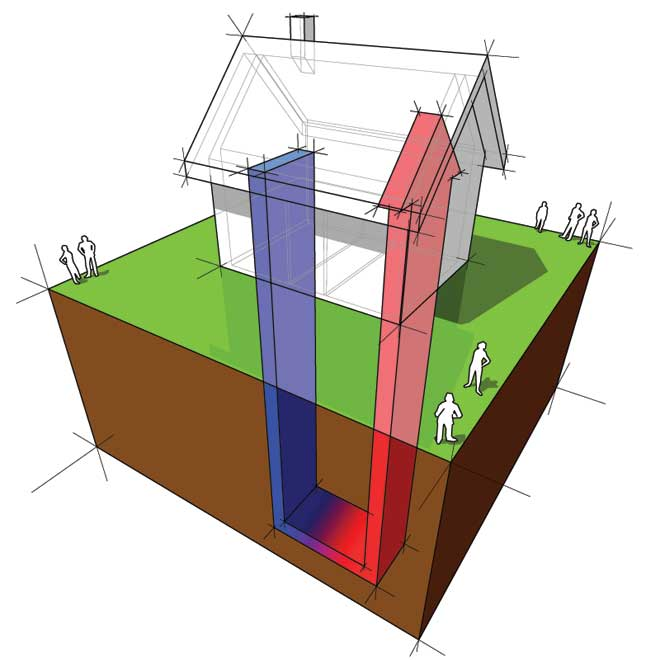 Residential Geothermal Heating Diagram