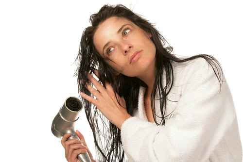 Drying your hair completely