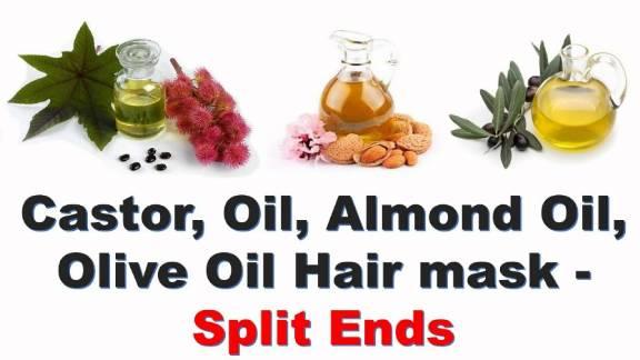 olive oil and castor oil will help split ends
