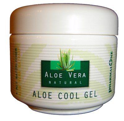 cool Aloe Vera Gel for sunburn on skin