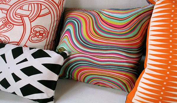 silk pillow cover or scarf