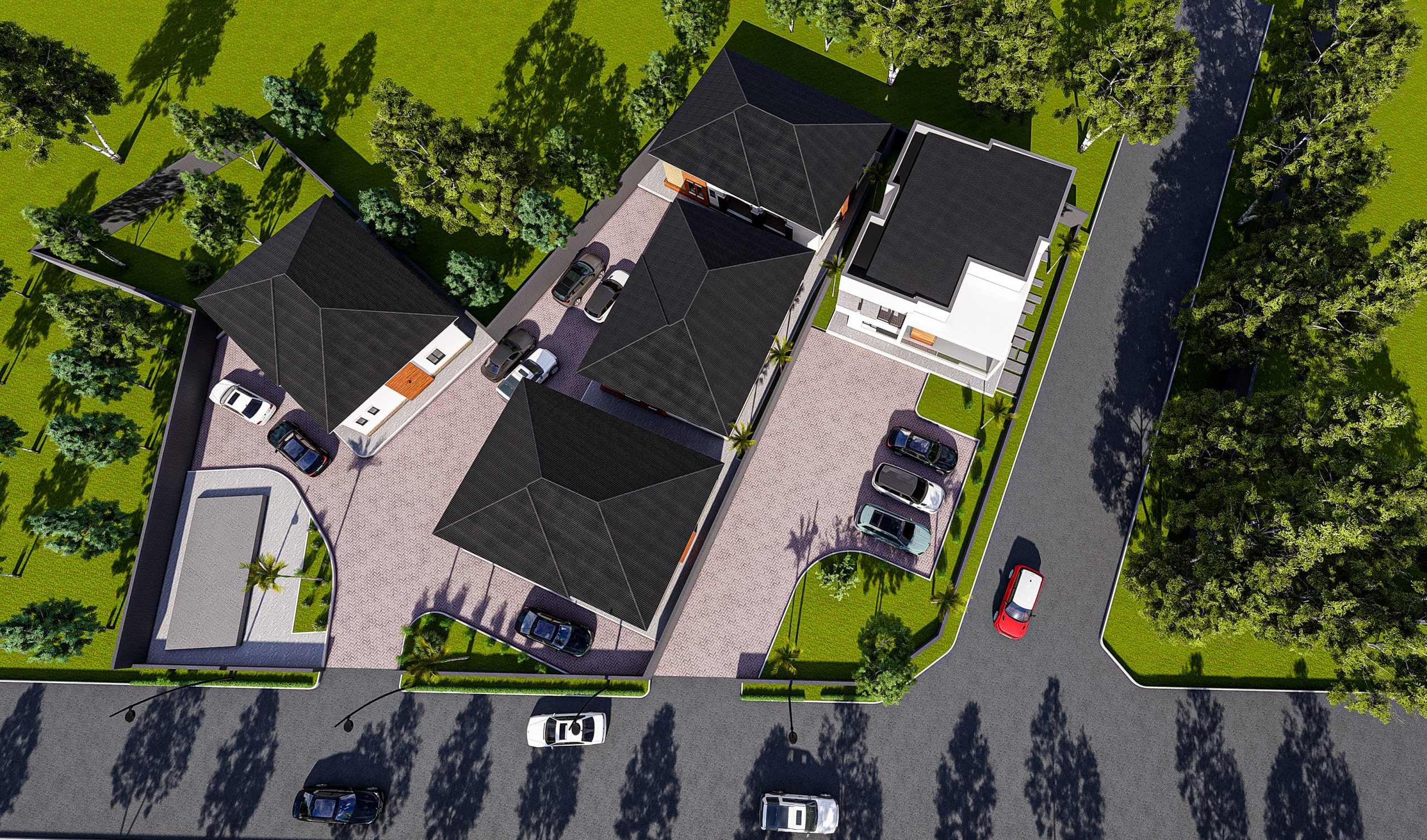3D Rendering Of Trinity ONE Including A Luxury Duplex