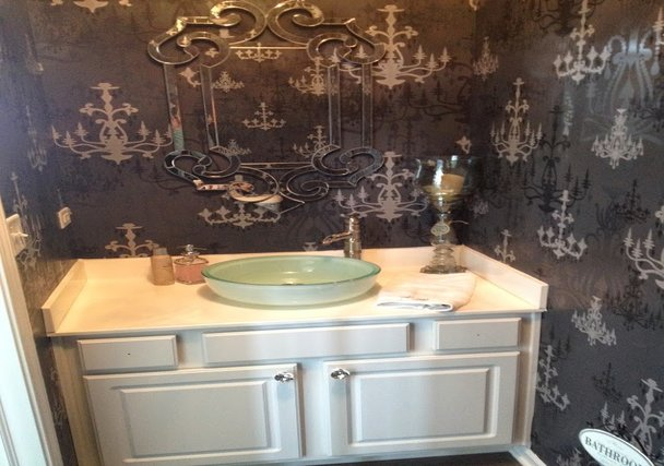 Chicago home builders - Bristol powder room