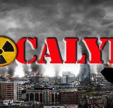 logo du scénario représentant une ville détruite avec le mot apocalypse écrit au devant.