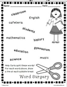 Word Surgery sample page