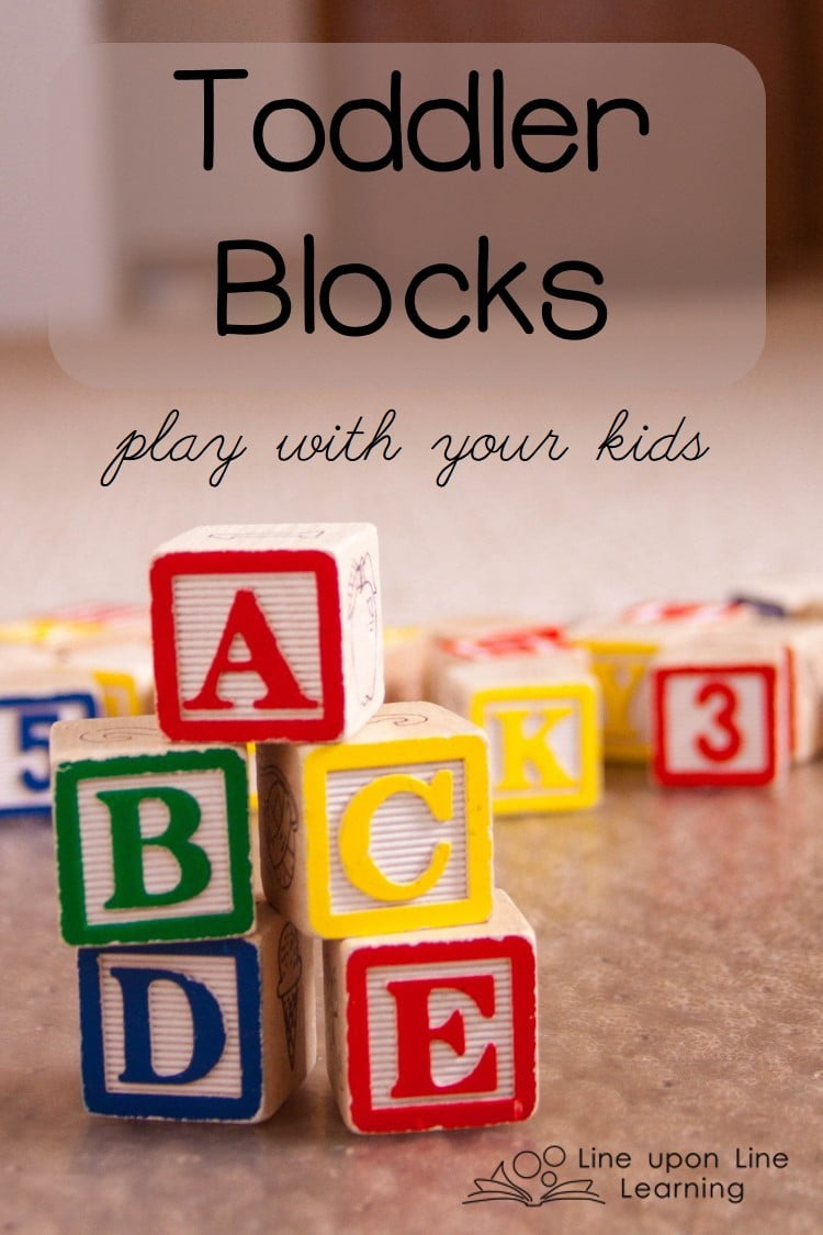 Even though my girl is little, we can still have a lot of fun playing together with basic blocks.