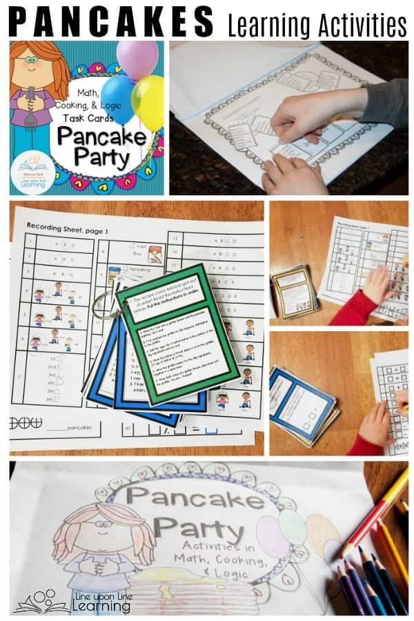 Learn and practice basic cooking and early math skills by having a pretend pancake party!