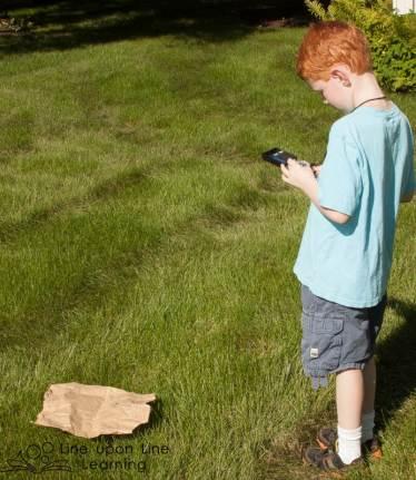 Backyard Compass Treasure Hunt