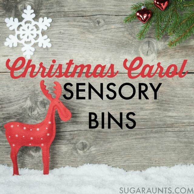 Christmas Carol Sensory Bins blog hop