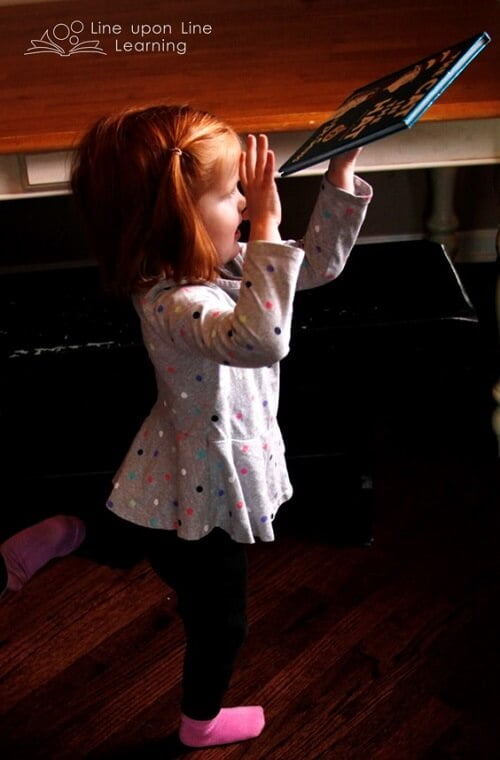 My daughter wanted to balance on one foot like the Cat in the Hat!