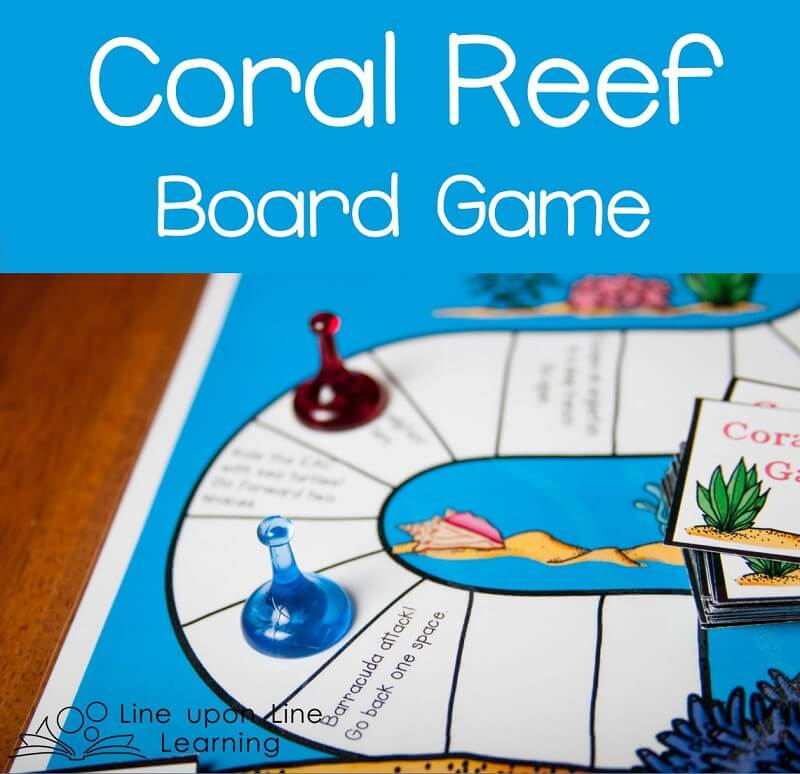 The Coral Reef board game reviews what we've learned about coral reef systems.
