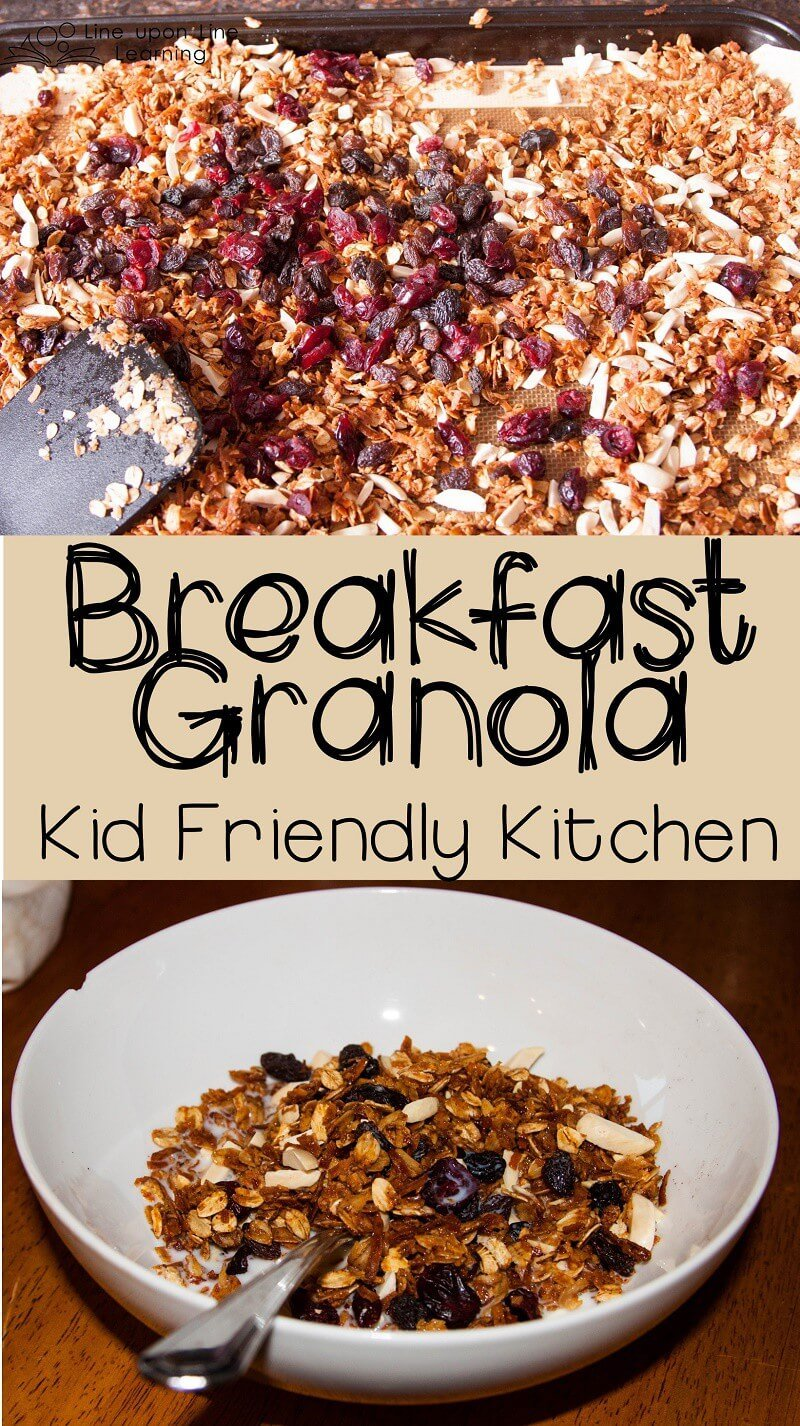Making granola is a kid-friendly recipe in more ways than one! It's easy, it is messy, it is hands-on, and it's delicious!