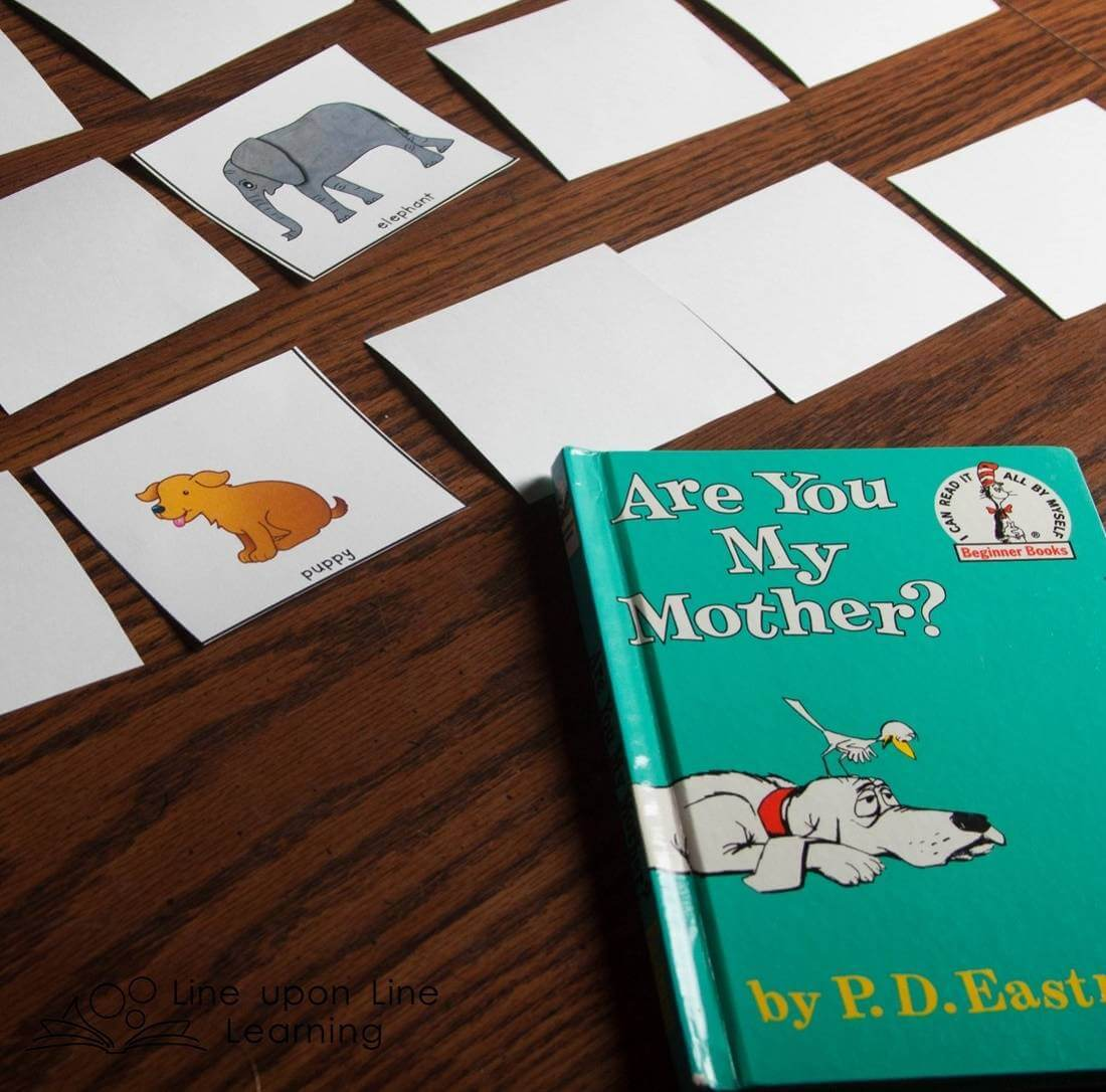 The book Are You My Mother? lends itself well to a lesson on matching mothers to their babies.