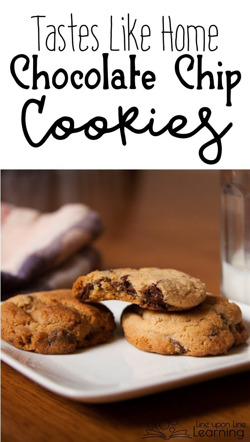 """The familiar taste of chocolate chip cookies helps bring """"home"""" to wherever I am. This is the perfect combination of fat, sugar, and chocolate. YUM!"""
