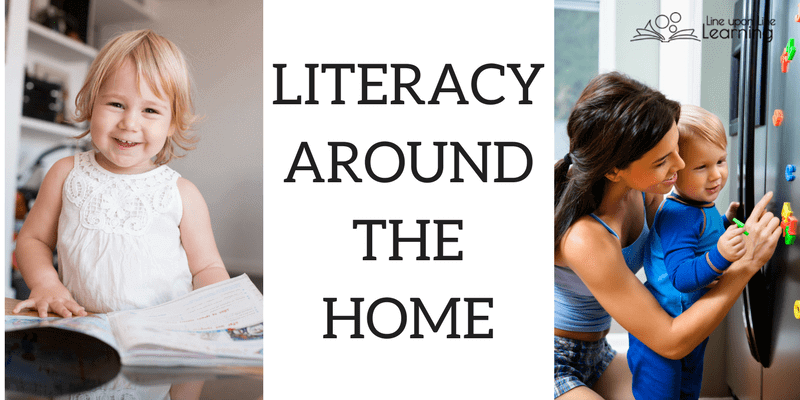 It's easy to introduce early Literacy around the Home by observing print all around you each day.