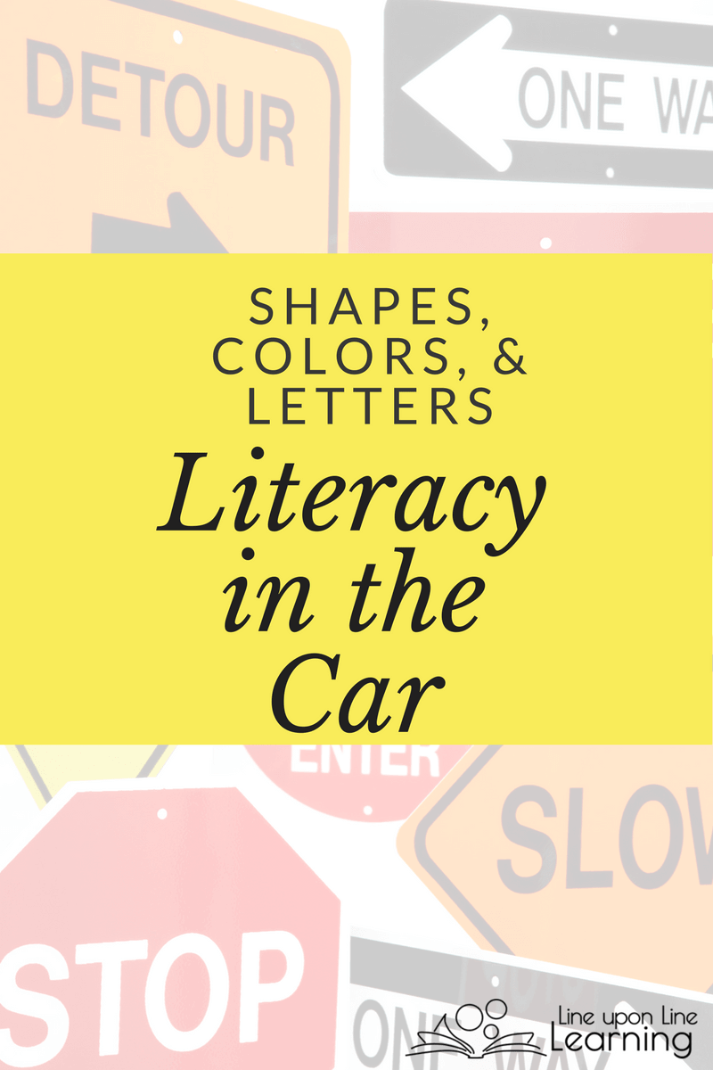 Find shapes, colors, and letters with these simple literacy in the car activities.