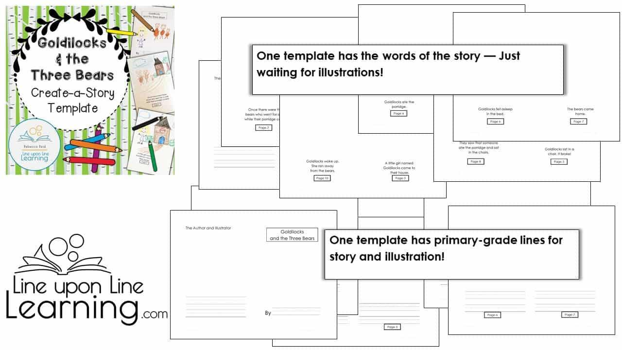 Goldilocks Create a Story Template DEMO