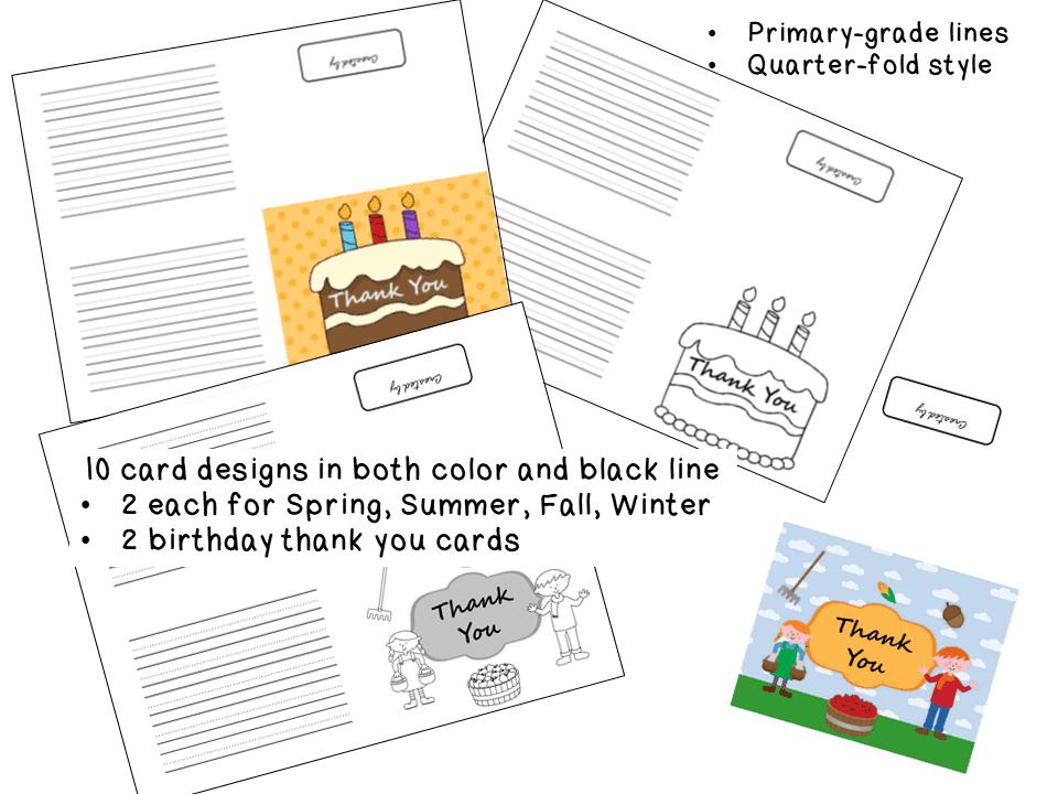 Thank you cards SEASONAL design sample page1