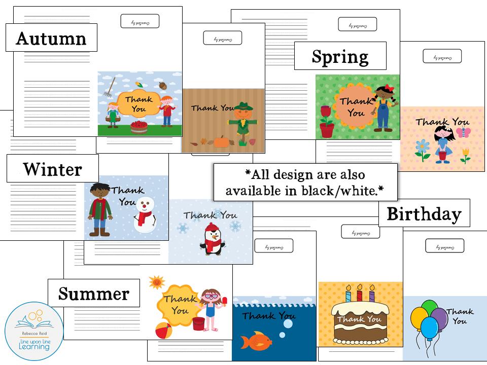 Thank you cards SEASONAL design sample page2